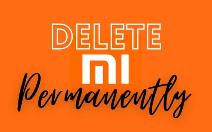 Process to permanently delete MI Account
