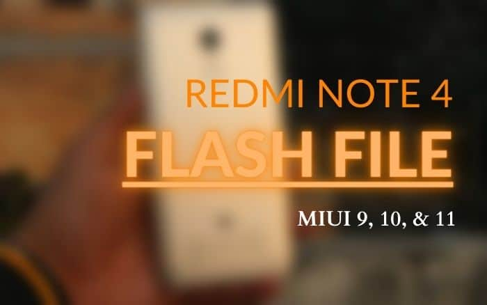 Download firmware flash file stock ROM for Redmi Note 4